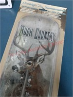 Hunters decor - Buck Country thermometer &