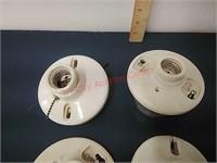 Vintage ceramic light fixtures