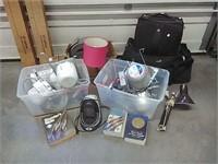 Lighting, luggage, flooring & books