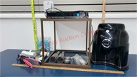 Job Lot. Water Jug Stand, DVD Player, Table, etc.