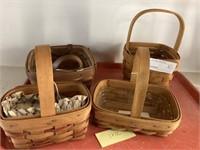 (4) Longaberger Baskets