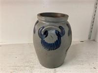 19th C Cobalt Decorated Stoneware Storage Crock