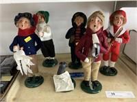 (6) Byers' Choice Figurines