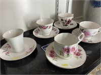 (5) Decorative Cups/Saucers