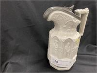 English Decorative-Paneled Teapot