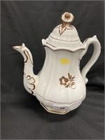 Antique Ironstone Copper Luster Teapot