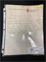Vintage Letter from McFarland Press, Inc. Lanc.