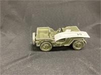 Vintage Painted Slush-Metal Jeep