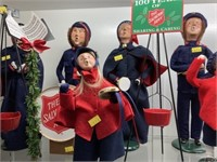 (9) Byers' Choice Figures-Salvation Army