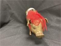Heavy Brass Pig-Form Piggy Bank