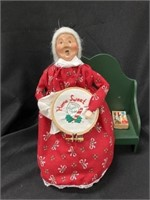 (2) Byers' Choice Figurines-Santa/Mrs. Claus