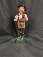 Byers' Choice Figurine w/Tripod Camera