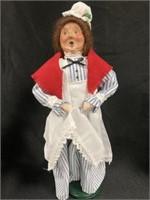 (2) Byers' Choice Figurines: Butcher, Dog, Etc.