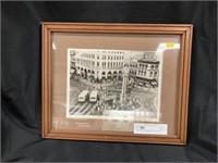 Framed Print of Lancaster Square Dated 1982