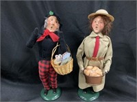 (2) Byers' Choice Figurines-Dry Goods, Bagels