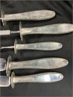 5 Pcs Alvin Sterling-Handled Cutlery