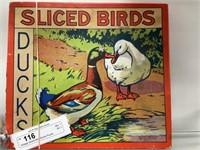 Vintage Sliced Birds/Ducks Puzzle