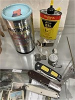 Pocketknives, Whistles, Advertising Cans