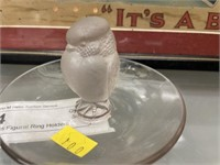 (2) Lalique Glass Figural Ring Holders