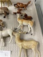 Vintage Plastic & Cloth Animals