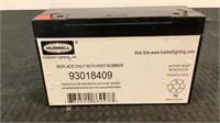 (4) Hubbell Lighting Inc. 6V Battery