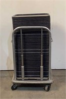 (Approx. 125) Rolling Dining Tray Rack And Trays