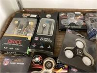 NFL Fidget Spinners & Ear Plugs