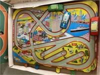 Vintage Mechanical Traffic Control Tin Litho Game