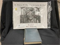 JFK Memory Picture w/Book Dated 1899