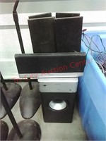 Speakers, speaker stands, electronics & cables