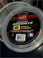 3 New buckets Rawlings 8U recreational baseballs.