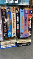 VHS Lot. X Box Games & 8 Track Tapes. Comes w/