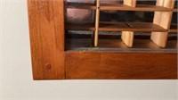 Wooden Display Case with Glass Doors