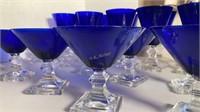 Cobalt Blue Cocktail Glasses