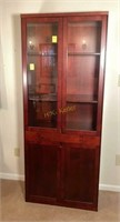 Wooden and Glass Hutch