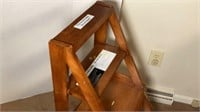 Adjustable Wooden Chair /  Step Stool