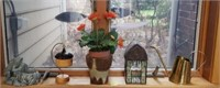 Artificial Plant, Brass Watering Can, and More