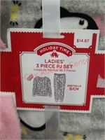 2 - NEW 3 pc Ladies pajama sets. Size small.