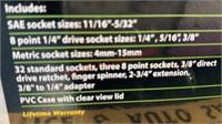 Pittsburgh 40 pc. Socket Set w/3/8 inch Ratchet