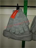 2 - New 2 pc. Joe Fresh adult beanie & glove sets.
