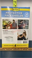 Safety Kit. 4 Protective Face Shields, Hand