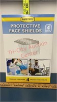 Safety Kit. 4 Pk Protective Face Shields, Hand