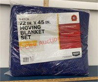 "2 Pk New Moving Blankets. 72"" x 45"""