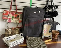 Lot of Purses, Suitcase, etc