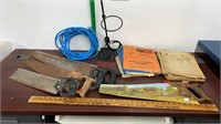 Hand Saws, Stand, Extension Cord, & Vintage