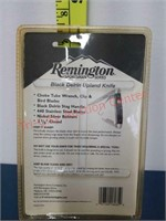 New Remington Black Delrin Uplan knife.