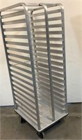 Rolling Aluminum Bakery Rack