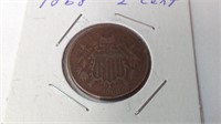 1868 two cent coin