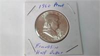 1960 proof Ben Franklin half dollar