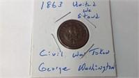 1863 united we stand civil war token